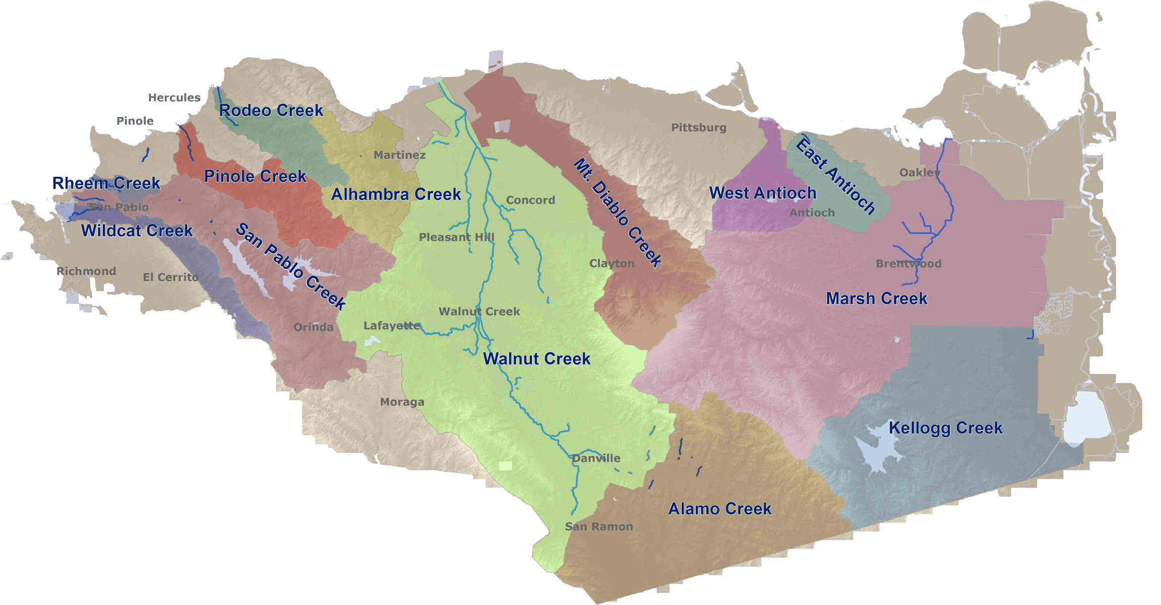 CCC Watershed Map