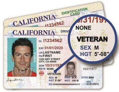 California Veteran Drivers License