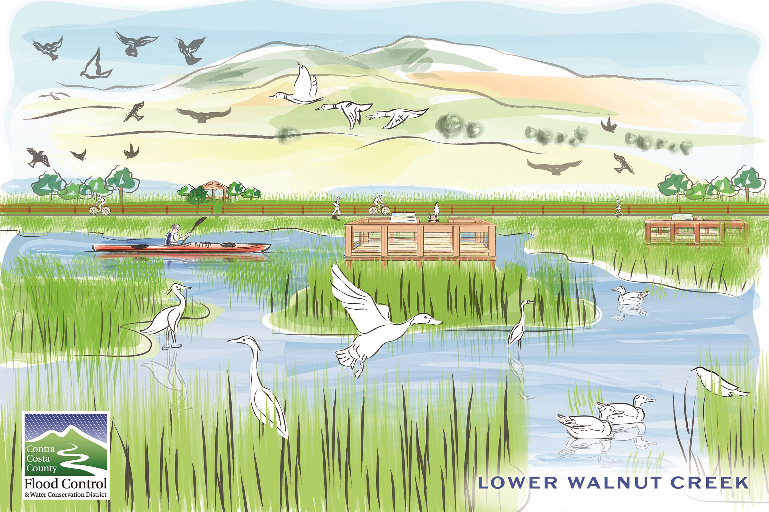Lower Walnut Creek Final Art Postcard