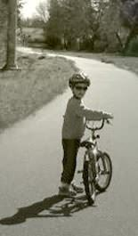 IHC kid on bike