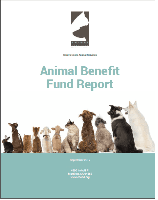 2017 Animal Benefit Fund Report Cover