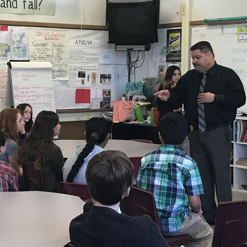 Contra Costa County District Attorney Staff Member with Students