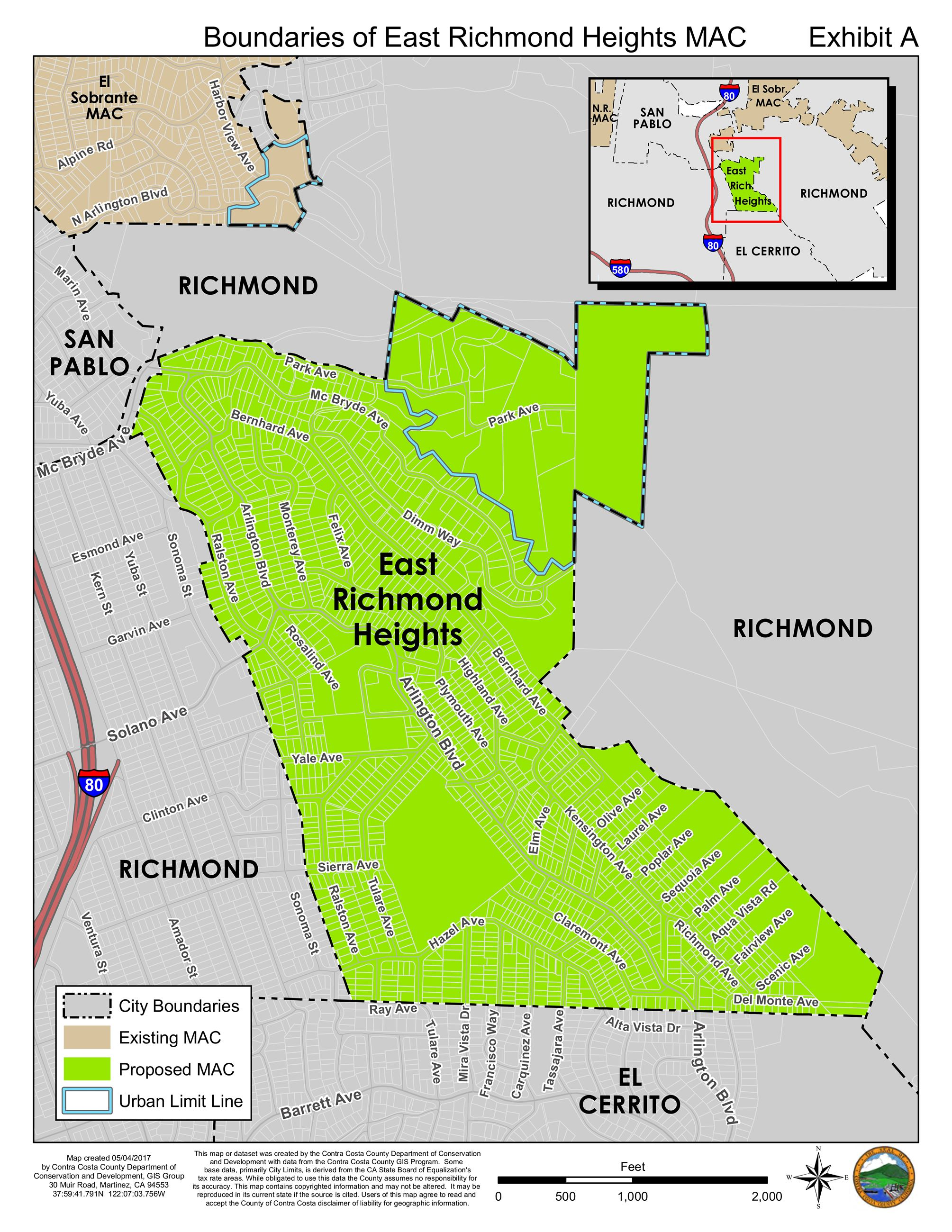 East Richmond Heights MAC Boundaries