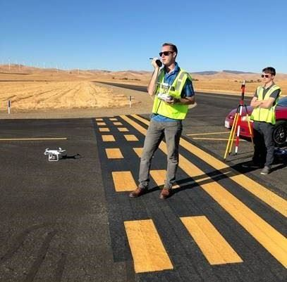 3DR Drone Pavement Inspection Byron Airport