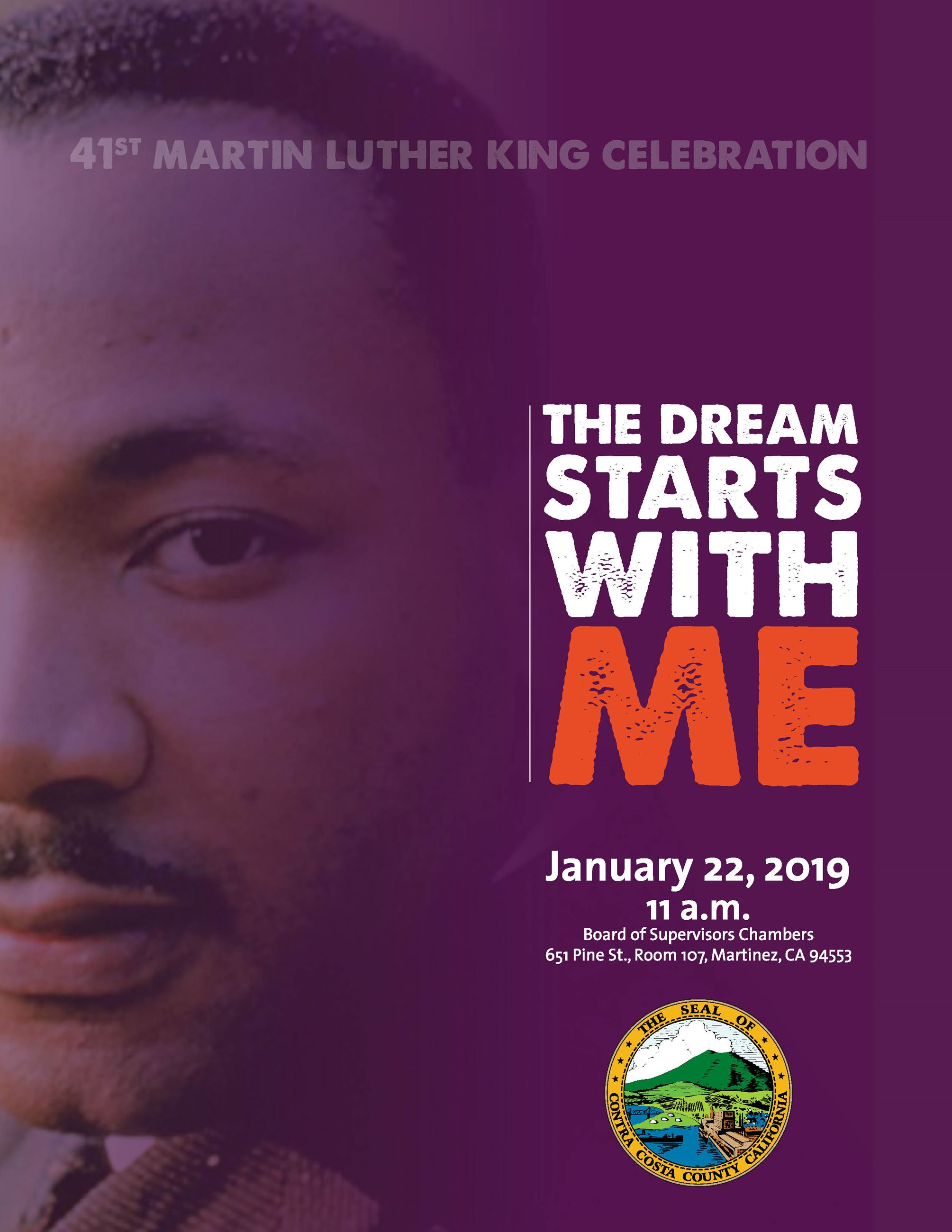 Dr. Martin Luther King, Jr. Save the Date: January 22, 2019