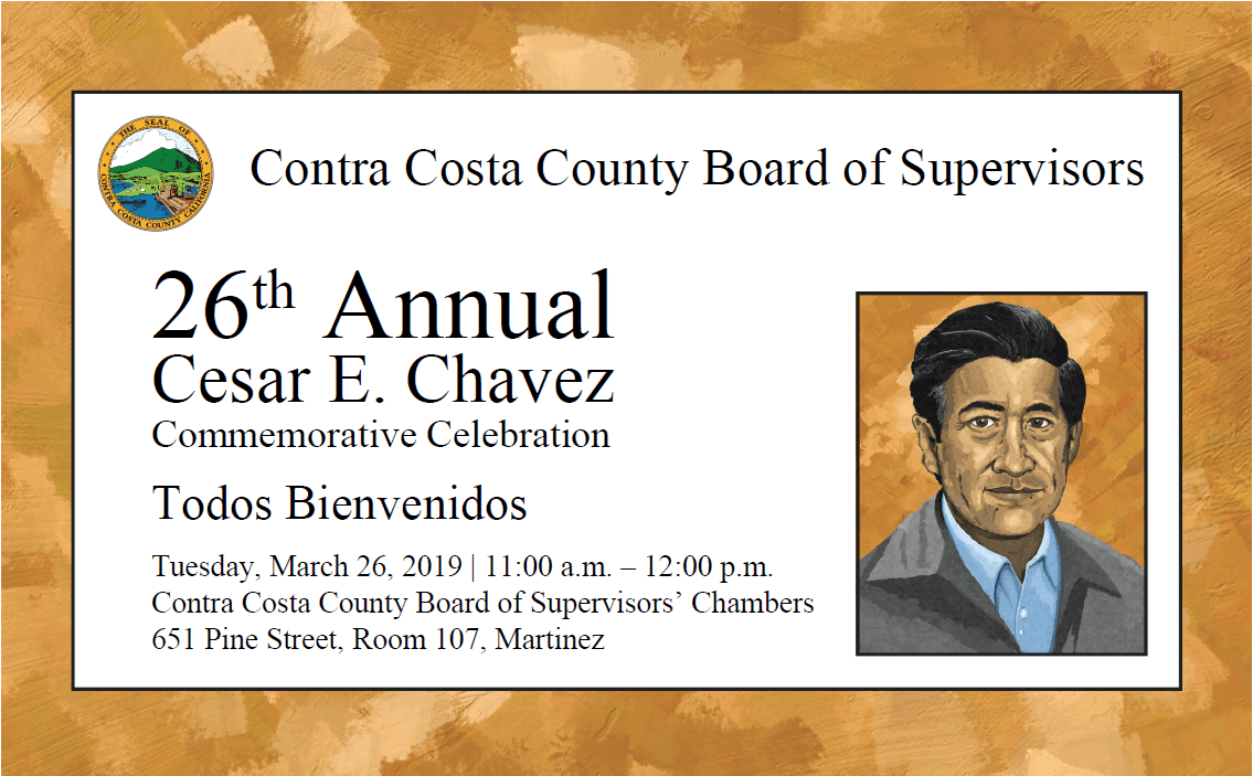 Cesar Chavez-Save the date