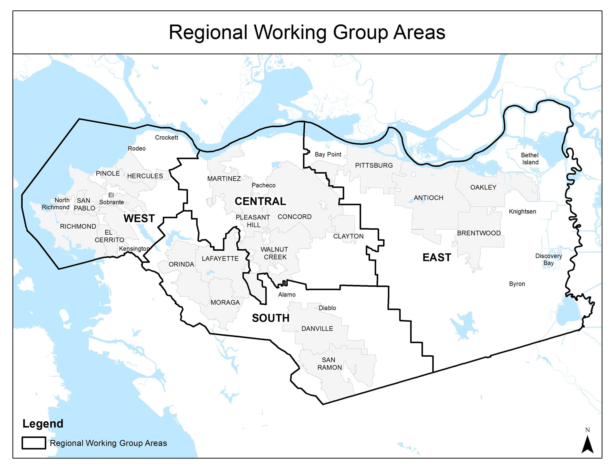Regional Working Group Map