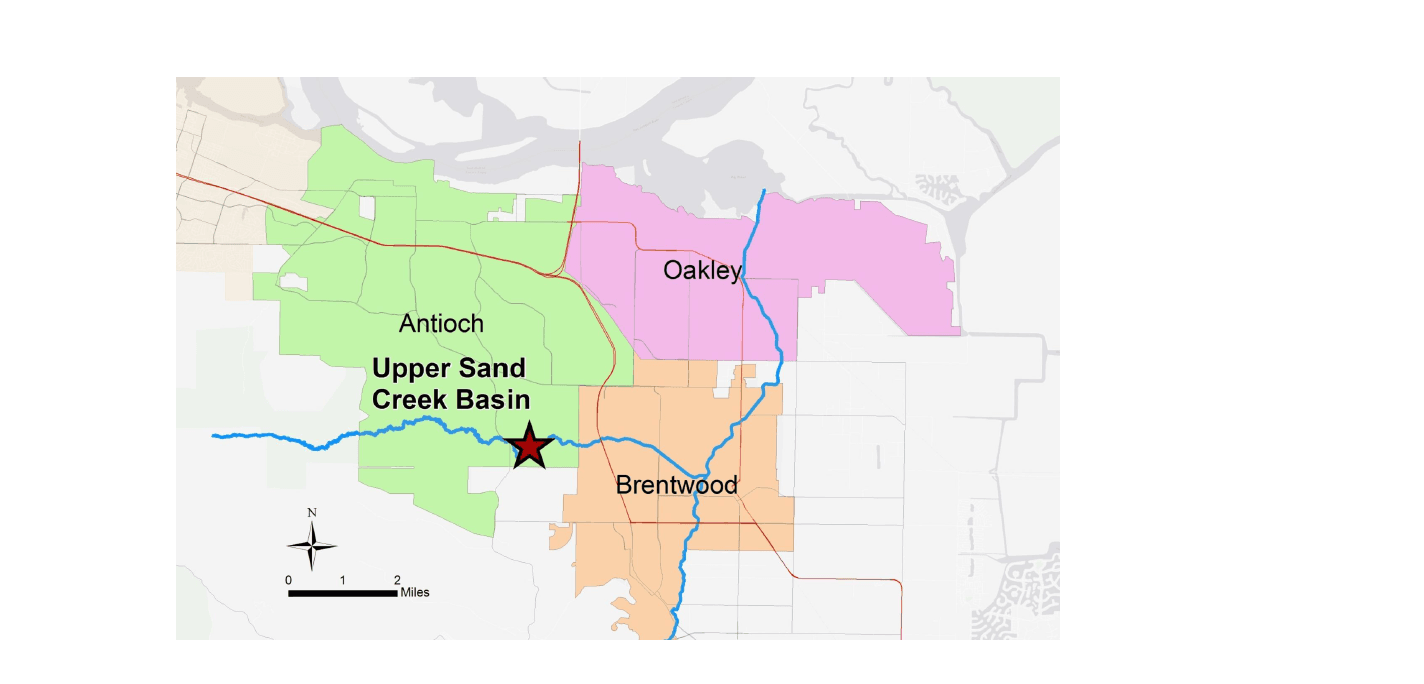 Upper Sand Creek Basin is located in Antioch, CA and will offer flood protection for Antioch, Brentw
