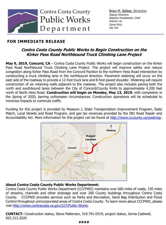 Kirker Pass Road Work Press Release (1)