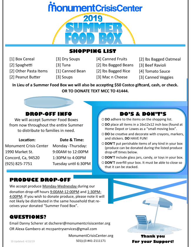 Summer Food Box 2019