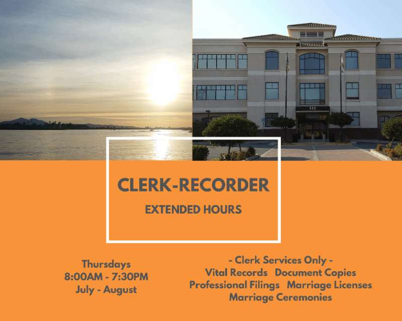 Clerk-Recorder - Extended Hours