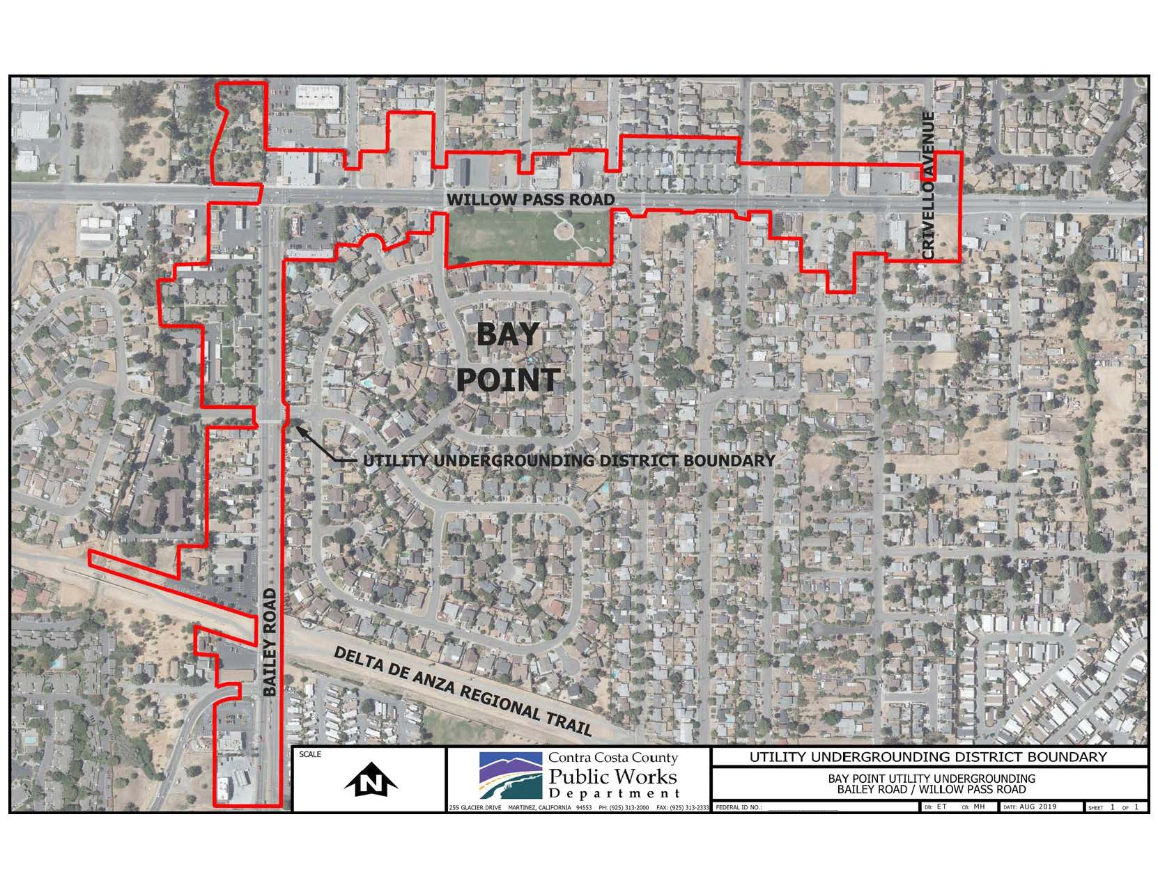 Bay Point Utility Undergrounding District Boundary (JPG)