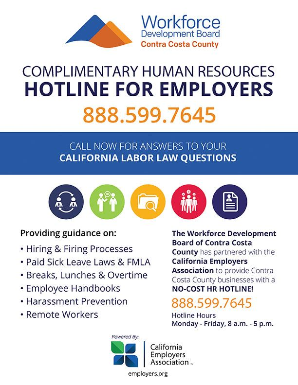 contra costa hotline flyer employer HR
