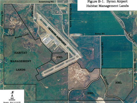 Byron Airport HML Map