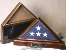Click on photo to view a larger picture of the Wood Flag Boxes