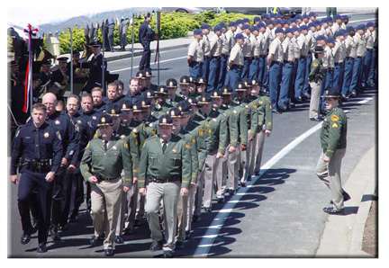 Sheriff's Office Deputies marching