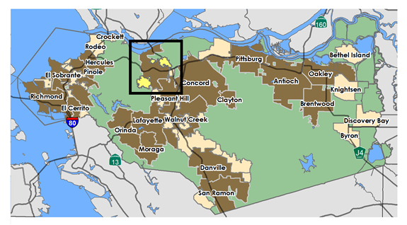 Unincorporated Martinez Contra Costa County CA Official Website - Map of contra costa county ca