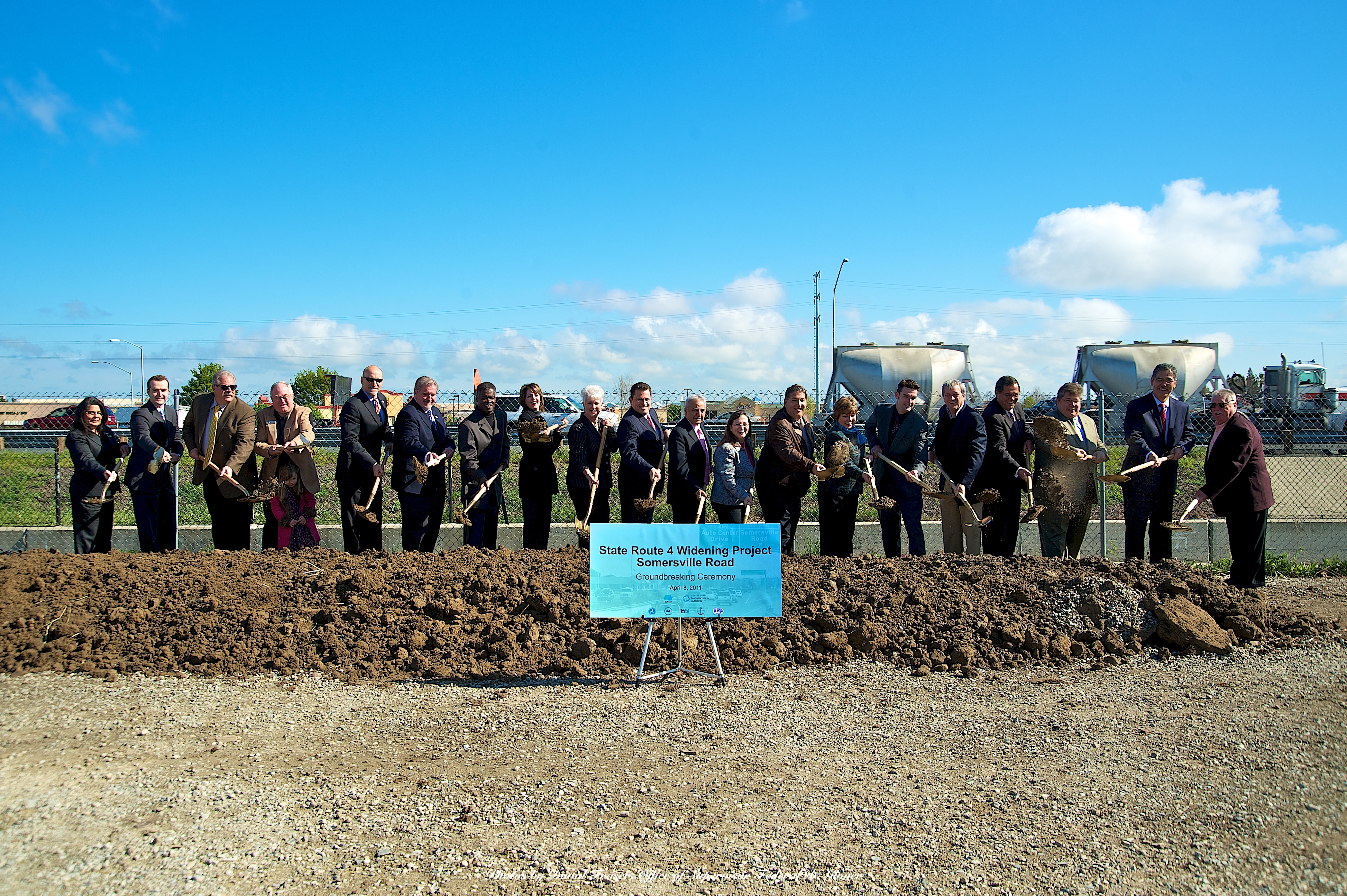 Ground Breaking for Highway 4 Widening
