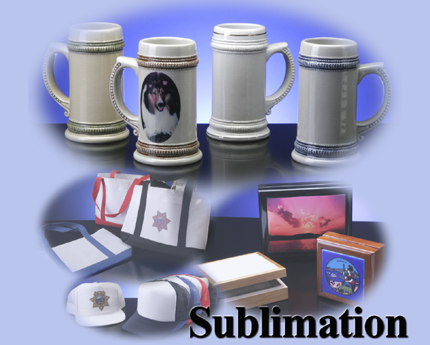 Click on photo to view Sublimation online catalog