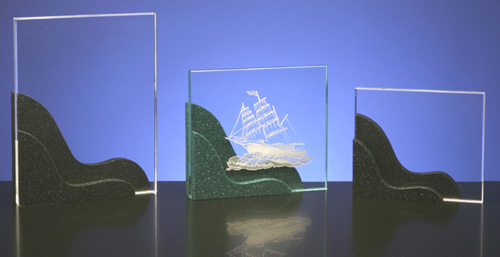 Click on photo for a larger picture of the Clear Acrylic Awards